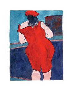 Bob Dylan - Woman In Red Lion Pub 2016 Print by Bob Dylan