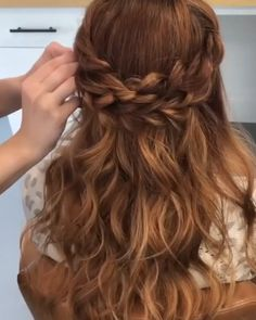 Hairdo For Long Hair, Easy Hairstyles For Long Hair, Braided Hairstyles, School Hairstyles, Office Hairstyles, Updos Hairstyle, Anime Hairstyles, Stylish Hairstyles, Curly Hair
