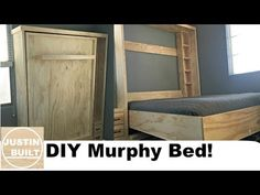 Diy murphy bed diy wall bed for 150 built by my husband and my 17 diy murphy bed without expensive hardware youtube solutioingenieria Image collections