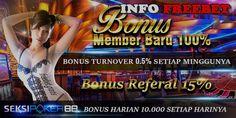 Freebet Bonus New Member Baru 100% Dari SeksiPoker88.com Freebet Gratis | Freebet Terbaru SeksiPoker88.com Merupakan Agen Poker Terpercaya indonesia Hadir D