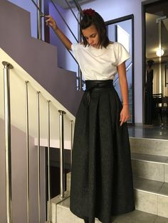 1611f4aab6 Black Maxi Skirt Plus Size Maxi Skirt Full Circle Skirt Maxi De Tamaño  Grande