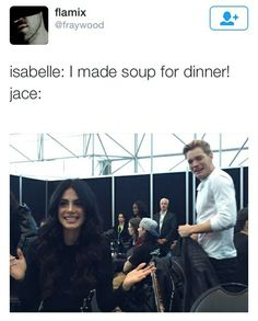 Shadowhunters // Isabelle Lightwood Cooking // Jace Herondale // Emeraude Toubia // Dom Sherwood