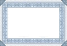 Empty Certificate Template PNG Clip Art Image
