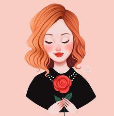undefined Red Hair Cartoon, Girl Cartoon, Cartoon Art, Illustration Girl, Character Illustration, Redhead Art, Girl Face Drawing, Illustrator, Girly Drawings