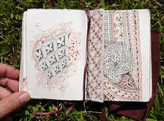 Zentangle: August 2015...Here are some images of the many pages she filled in her current field notes book . . .