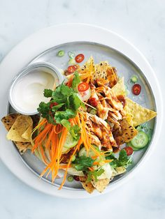 asian-style chilli chicken nachos from donna hay (Mexican Desert Recipes Cheese)