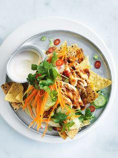 asian-style chilli chicken nachos from donna hay