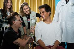 Johnny Depp Photos - Johnny Depp with a patient of the Starkey Hearing Foundation at Four Season Hotel Ritz Lisbon on May 27, 2016 in Lisbon, Portugal. - Starkey Hearing Foundation Hearing Mission With Hollywood Vampires - Rock in Rio Lisboa 2016