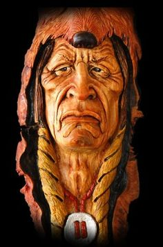 OOAK, Wood Tree Spirit, Carving, American Folk Art, Muzzleloader, Rendezvous