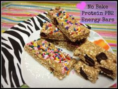 No Bake Protein PB2 Energy Bars - a perfect snack after working out or just in between ;)  #healthy #PB2 #Wheyprotein