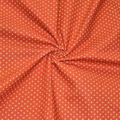 Für Leute mit Mut zur Farbe: Oranger Stoff mit grünen Punkten