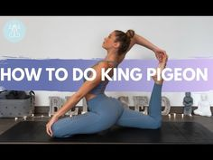 This video will guide you through the tips and tricks to get into a king pigeon pose. It will provide warm up poses and drills that will help you to master y. King Pigeon Pose, Dharma Yoga, Gymnastics Poses, Finding Yourself, Tips, Youtube, Drills, Drill, Youtubers