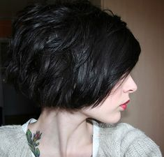 Short hair with texture.