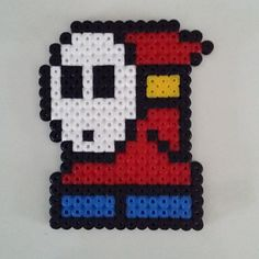 Shy Guy Mario hama beads by anypekexa