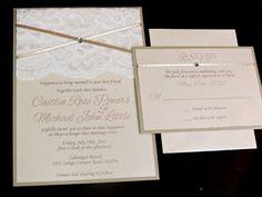 Dainty Lace Wedding Invitation - Customizable