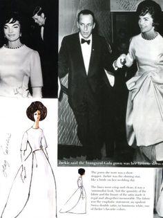 Jackie Kennedy in Cassini inauguration gala 1961