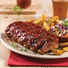 Rib Recipes, Cooking Recipes, Ribs Restaurant, Best Bbq Ribs, Calzone, Food Network Recipes, Main Dishes, Steak, Food And Drink