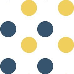 White, Navy Blue, and Yellow Polka Dot Background