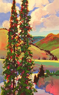 Summer in Creede - by Stephen Quiller, American artist working in Colorado