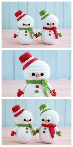 Free Pattern Nice Amigurumi Snowman – Free Amigurumi Crochet – Stricken ist so… Cute Crochet, Crochet Crafts, Crochet Projects, Fabric Crafts, Wood Crafts, Crochet Christmas Decorations, Holiday Crochet, Free Christmas Crochet Patterns, Crochet Amigurumi Free Patterns