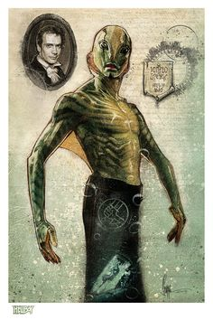 Paul Shipper's Abe Sapien for the upcoming Hellboy 20th Anniversary tribute art show @HeRo Complex Gallery. Over 100 amazing artists w...