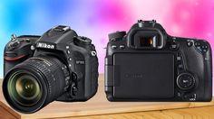 Nikon D7100 vs Canon EOS 70D Camera Comparison  Side by Side