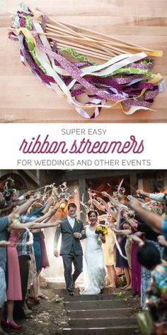 Does your wedding venue ban rice or petals? These wedding streamers are fun and festive and don't leave a mess!