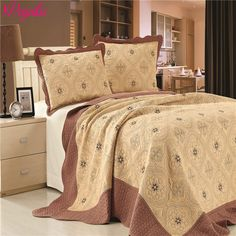 home ideas  Europe High Quality 230*250CM Quilted Bedspreads With Pillowcases On The Bed Warm Blanket With Pillowcases -- AliExpress Affiliate's buyable pin. Click the VISIT button for detailed description on www.aliexpress.com