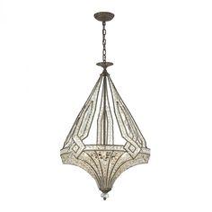 Jausten 5 Light Chandelier In Antique Bronze : 11783/5   Ellen Lighting and Hardware