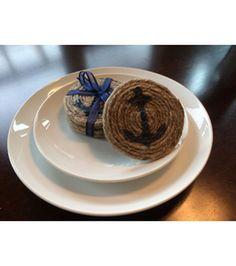 Nautical Jute Coasters   Make your own DIY Rope Coasters