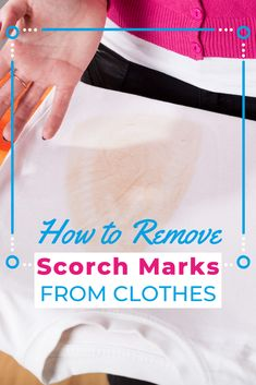 Ironing clothes can be a risky venture, but even when you scorch your clothes a little, you don't have to be reduced to tears. This guide on how to remove scorch marks from clothes will walk you through the process step by step. Laundry Storage, Diy Storage, Doing Laundry, How To Iron Clothes, Other People