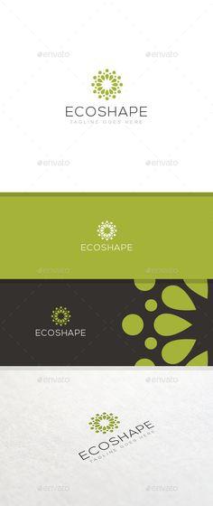 Ecoshape  Logo Template — Photoshop PSD #eco #natural • Available here → https://graphicriver.net/item/ecoshape-logo-template/10723483?ref=pxcr