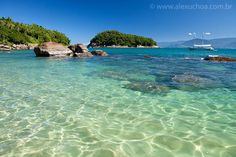 Ilha das Couves - Ubatuba - SP Vacation Destinations, Vacation Spots, Places Around The World, Around The Worlds, Brazil Travel, Costa, Beautiful Beaches, Travel Photography, Scenery