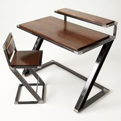 "Custom Made ""Miterz Pen Palz"" Industrial Writing Desk"