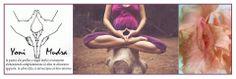 Il mudra yoni invoca l'energia primordiale insita nel grembo materno o fonte di creazione.Yoni è la fonte della vita, del potere creativo,è il contatto con l'energia femminile con la Natura e la Terra e con tutti i tipi di azioni correlate a questo tipo di energia che richiedono creatività e intuizione .Questo mudra è congeniale per le donne in gravidanza o che cercano una gravidanza e per tutti coloro che hanno bisogno di riconnettersi con il proprio centro di creazione.