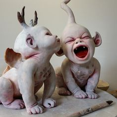Awesome sculpture by Ronit Baranga, 'The Grave Watchers' Childhood'