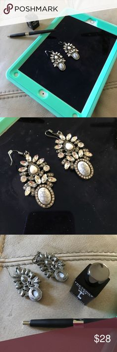 Just In 🦋sparkly Statement Earrings These are incredible they were a gift I love them but too big for me -brand new vintage style crystals they have hypoallergenic posts Jewelry Earrings