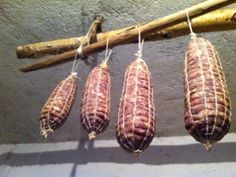 Mountain salami from the Alps