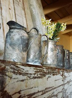 Love old milk jugs