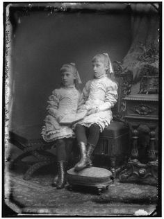 Helena Victoria and Marie Louise, daughters of Princess Helena and Prince Christian