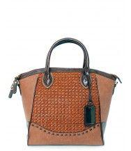 Trudy Brown Wicker Bag
