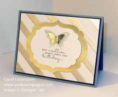 One in a Million – Fancy Foil Designer Vellum April iWOW U of Carol Lovenstein - Stampin' Up! Perpetual Birthday Calendar, Happy Birthday Man, Beach Cards, Flip Cards, Gold Paper, One In A Million, Kids Cards, Christmas Inspiration, Greeting Cards Handmade