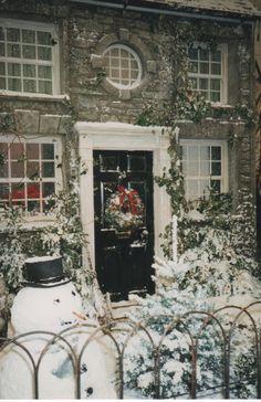 Snow always makes the garden look Christmassy!  #christmas #garden