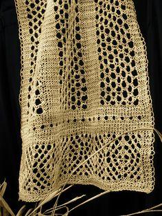 Grasslands Stole pattern by Veronica Parsons