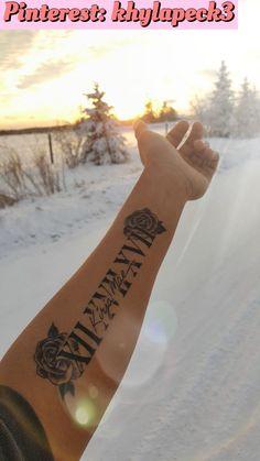 Tattoo in memory of my best friend .- Tätowierung zum Gedenken an meine beste Freundin – Tattoo in memory of my best friend – … – tattoo – - Forarm Tattoos, Baby Tattoos, Couple Tattoos, In Memory Tattoos, Tatoos, Rose Tattoo Forearm, Tattoos Of Names, Forearm Name Tattoos, Tribal Hand Tattoos