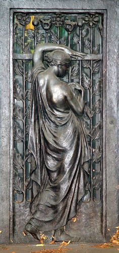Ornate Door with Angel,Woodlawn Cemetery Bronx, New York - US. @Deidra Brocké Wallace