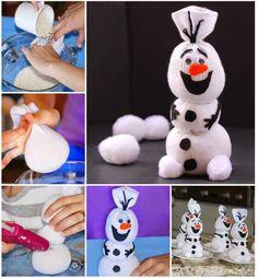 Snowman Olaf Sock Craft diy diy crafts do it yourself snowman sock olaf