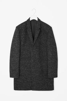 Wool melange coat