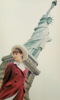Jean Shrimpton in Glamour mag, 1963