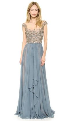 EMBROIDERED ILLUSION DROP SHOULDER GOWN http://rstyle.me/n/bnrhpwqcde